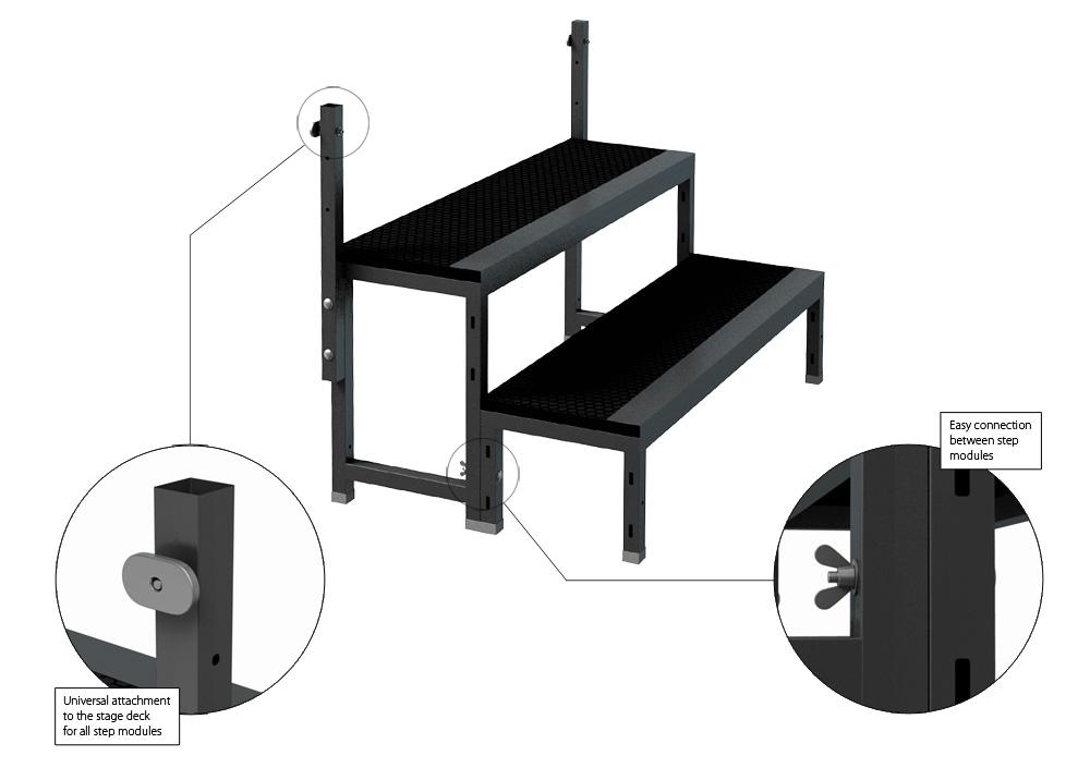Surprising Stairs Professional Stage Systems Inzonedesignstudio Interior Chair Design Inzonedesignstudiocom